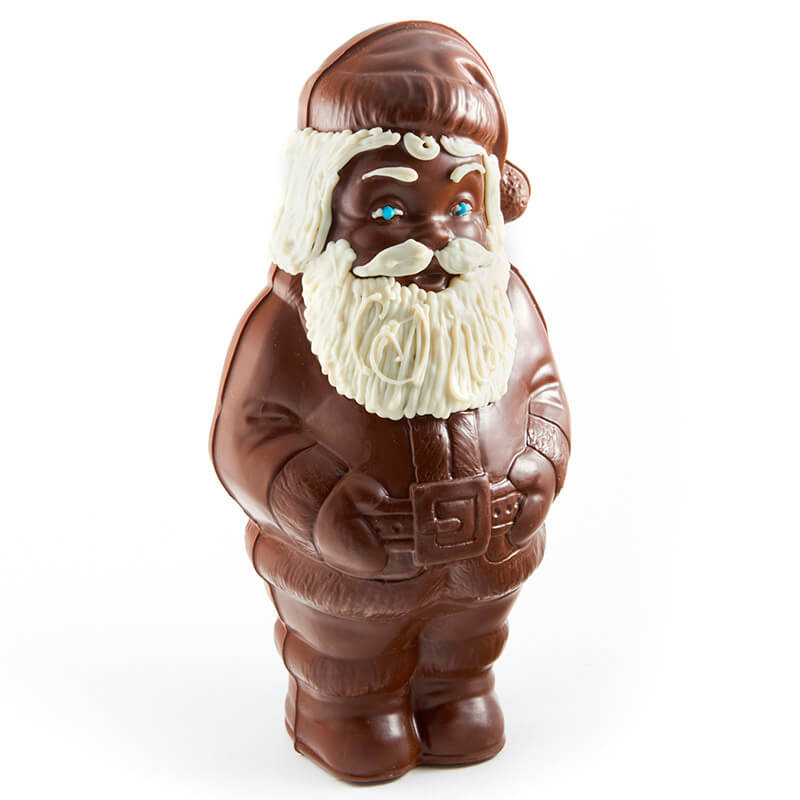 Molded Chocolate Santa with Beard