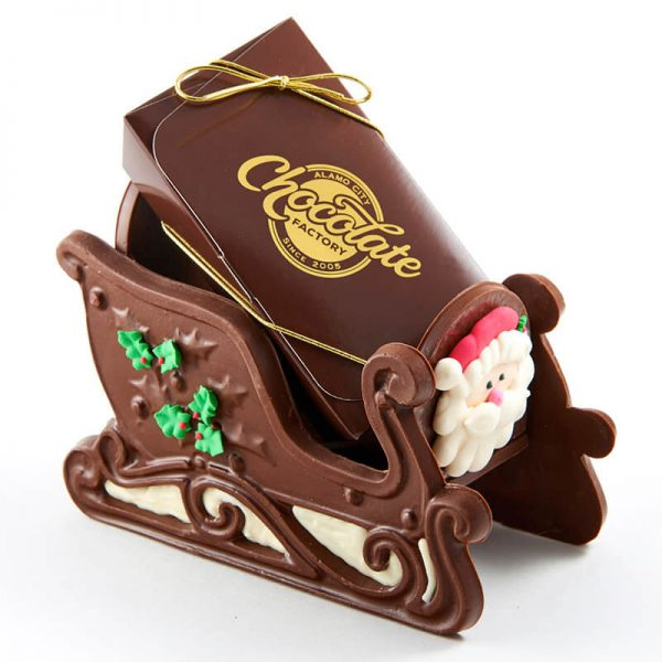 Winter Themed Molded Chocolate Confection