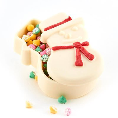 Snowman Shaped Molded Chocolate Confection