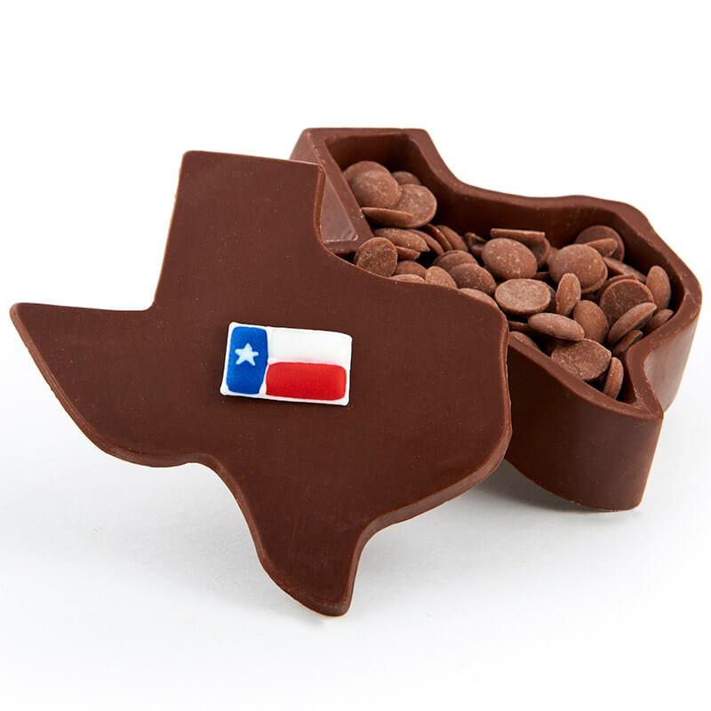 Texas Shaped Molded Chocolate Confection Box