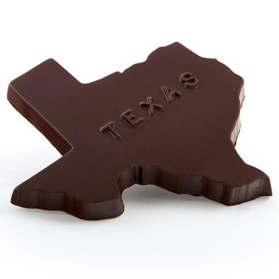 Texas Shaped Molded Chocolate Confection