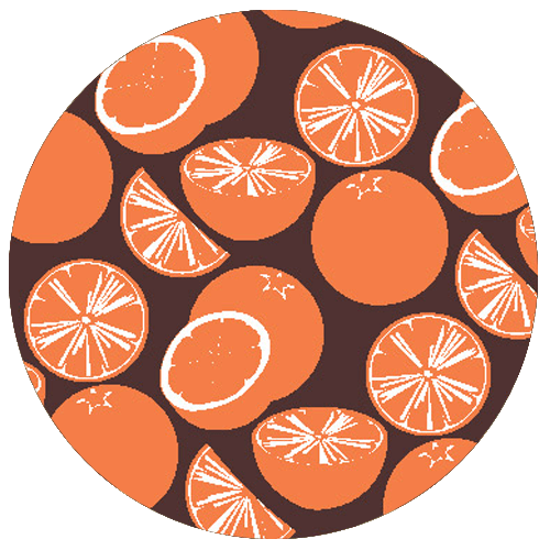 Orange Truffle Pattern